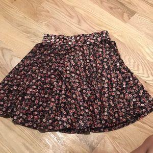 Flower Velvet Skirt